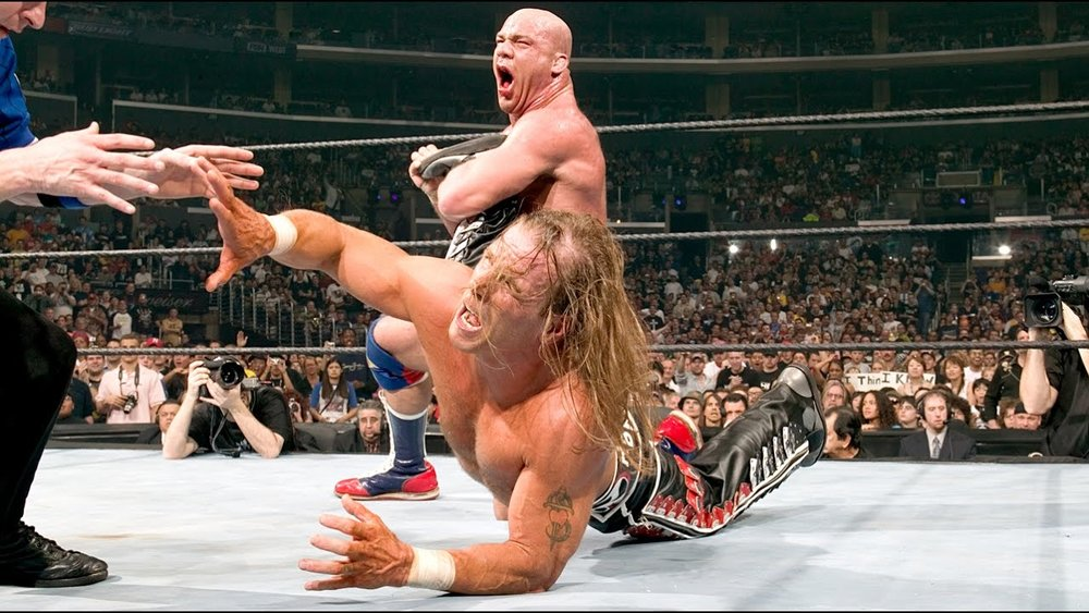 SHAWN MICHAELS Vs. KURT ANGLE - WRESTLEMANIA 21