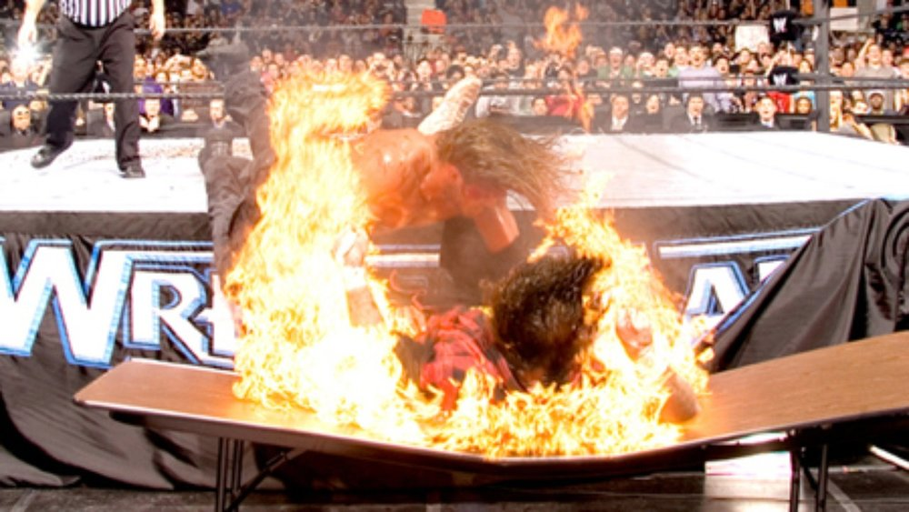 EDGE vs. MICK FOLEY - HARDCORE MATCHWRESTLEMANIA 22