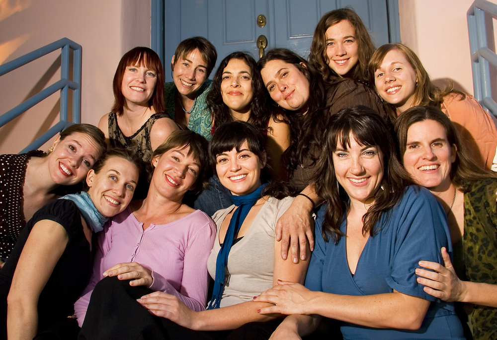 Old Soul Sisters   In order of appearance: Norah Staples, Sarah Cotton, Diane Daly, Gabrielle Pietrangelo, Sereti Fifield-Venzin, Debbie Daly, Marie DeGain, Caroline Isaacs, Laura Talarsky-Stevens, Jessica Shuman, Laura Kepner-Adney & Melissa Andrews     photo by David Olsen