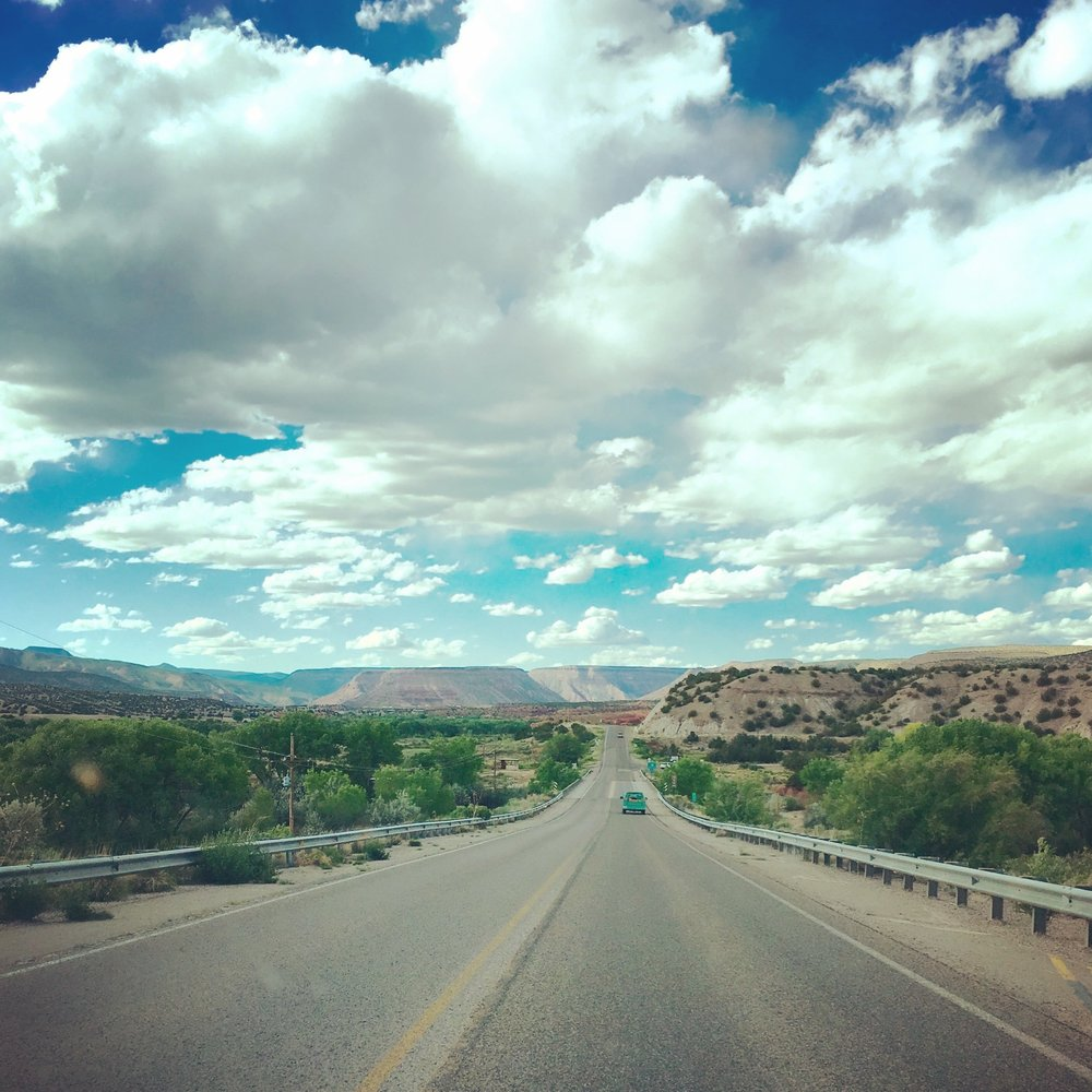 On Highway 4 near Jemez, New Mexico  (photo by Gabrielle Pietrangelo)