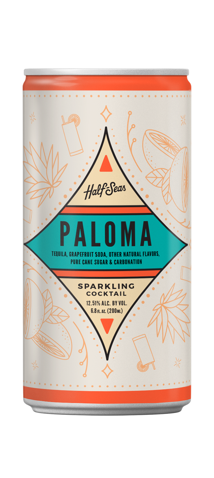 Paloma Tequila cocktail in a can