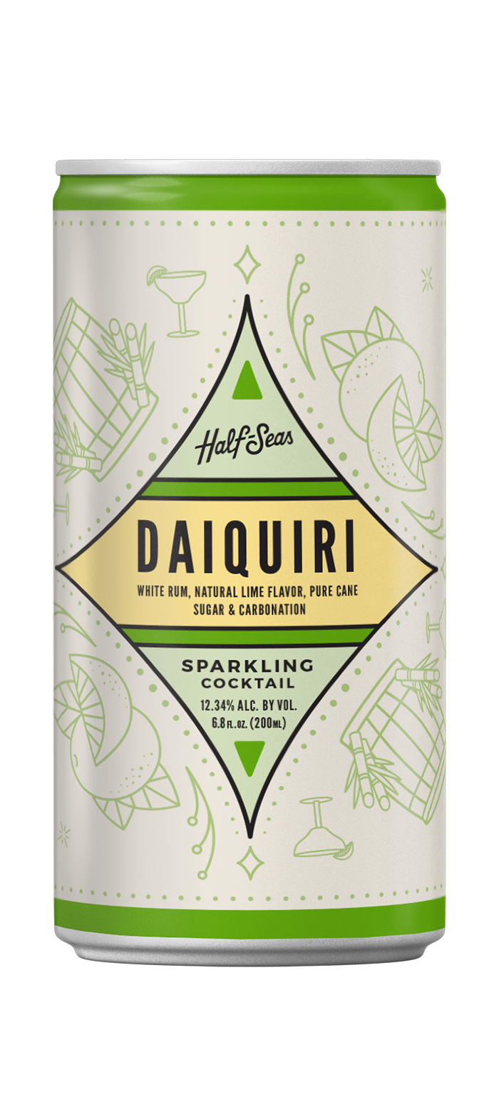 daiquiri rum cocktail in a can