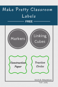 Make pretty classroom labels for FREE with this easy tutorial.