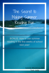 Summer reading can be a slippery slope. How do we get kids reading without killing the joy of reading? Make it meaningful with a promise of good stuff to come.