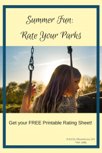 Summer Fun! Send home some fun for the summer with this Rate Your Parks printable! Or use it with your own kids!