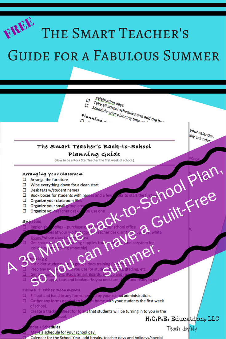 Use this FREE guide and take 30 minutes to make a plan for all your back-to-school prep. Then, you can relax and enjoy your summer without guilt.