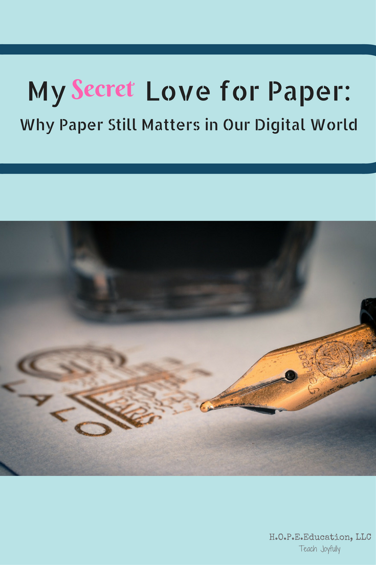 In our digital world, preferring paper to electronics can be a guilty pleasure. But, our brains like the sensory input we get from using paper and pencil.