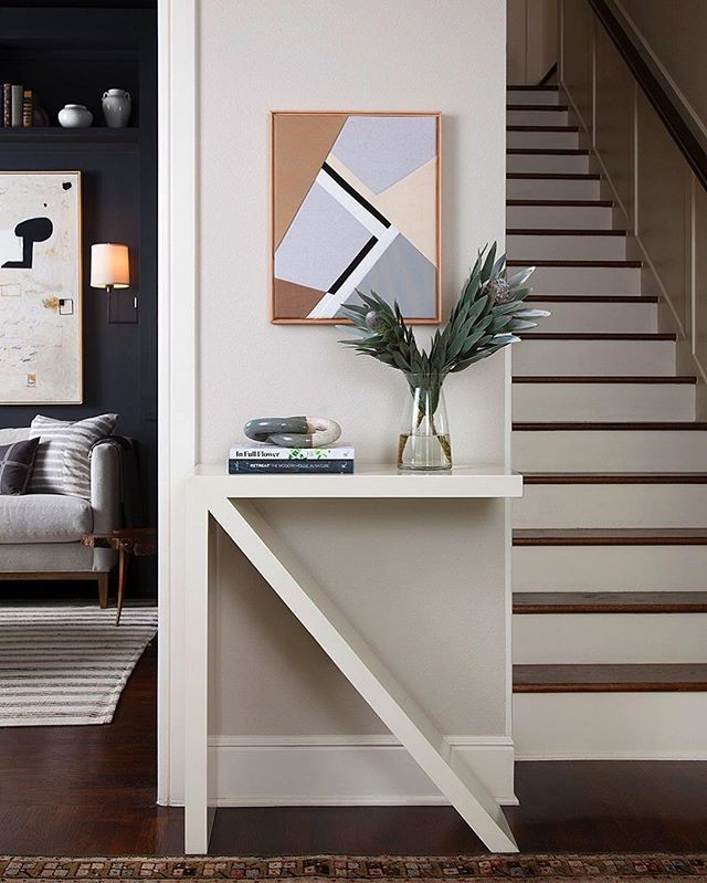 Loving this entryway moment from @studioseiders . Follow their #springlaneproject to see more. 🙌 — Interior Design: @studioseiders Photography: @ryann_ford — #studioseiders #interiordesign #interiorinspo #angles #entry #contrast #ckstyleaccordingly #abmathome #interiorinspiration #decorinspiration #homebeautiful