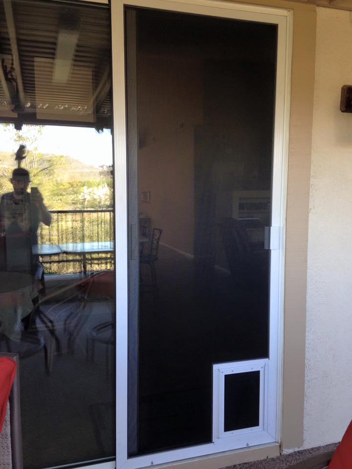 ... Doggie Door Screen ...
