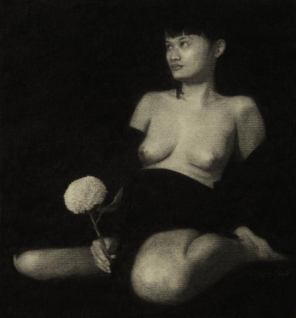 Nude with Pom Pom