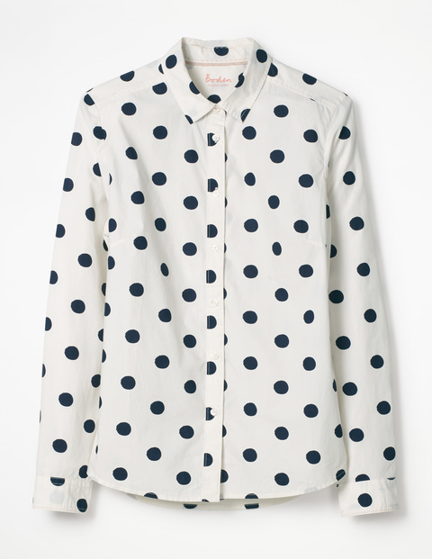 While this is technically navy, I think you can get away with it -  The Classic Shirt by Boden