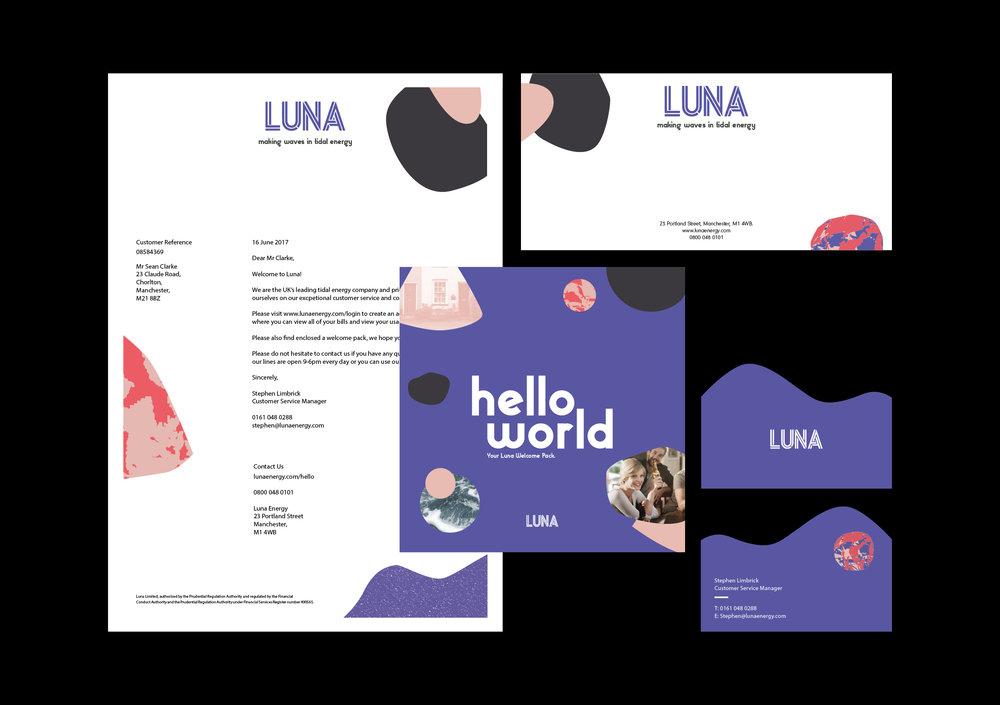 LUNA / Branding, UX + UI Design