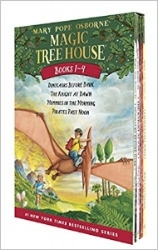 Magic Tree House Boxed Sets of 4 titles (cause kids can't read just one!) $23.96