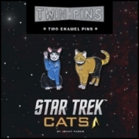Transport to an amazing new universe where Kirk and Spock are lovingly reimagined as cats.  Star Trek  fans will love sporting these pins, a unique new twist on the classic series. $14.95