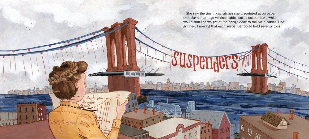 Secret Engineer: How Emily Roebling Built the Brooklyn Bridge , written and illustrated by Rachel Dougherty