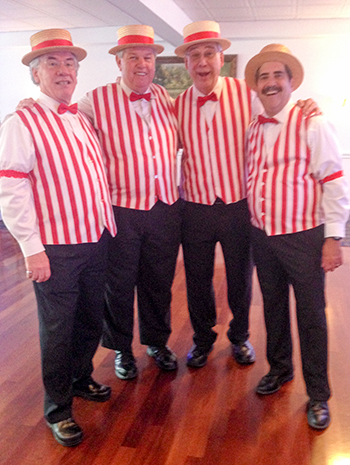 Barbershop Quartet, Quatrain, May 2016