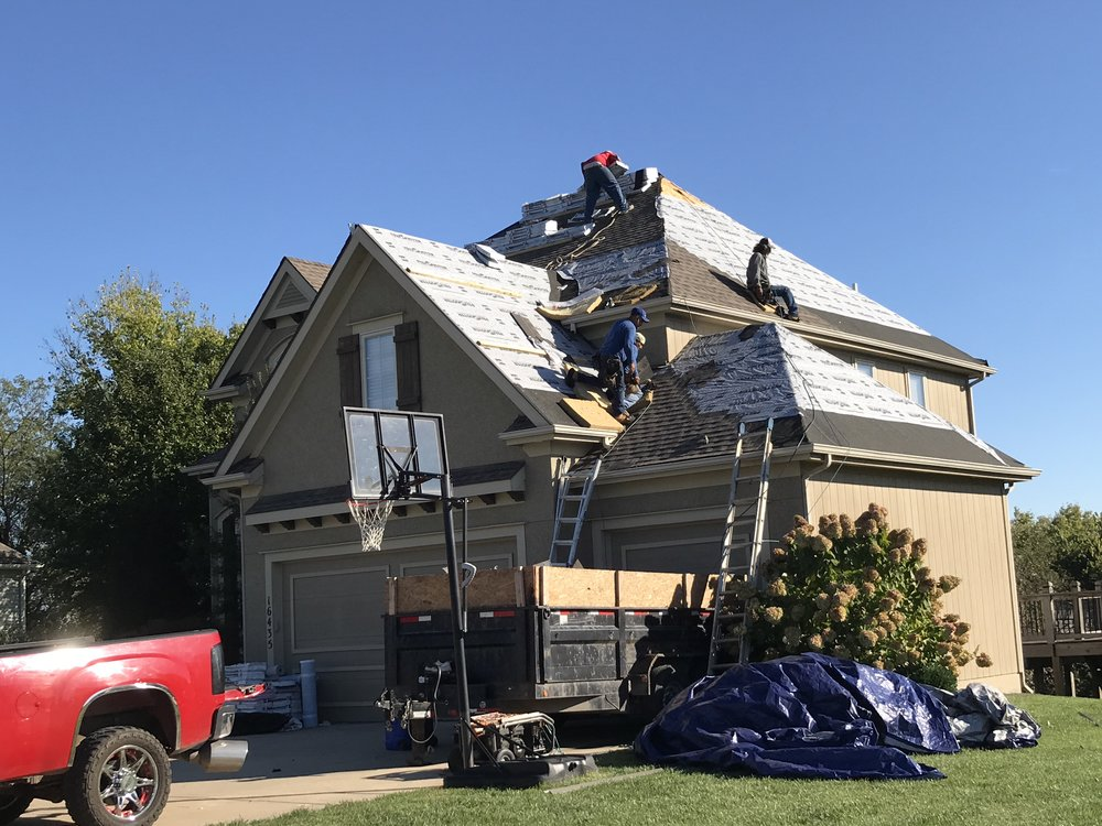 Platte City, Mo -Another happy client using GAF Armor Shield 2 Class 4 Shingle providing Class 4 Hail resistant protection.