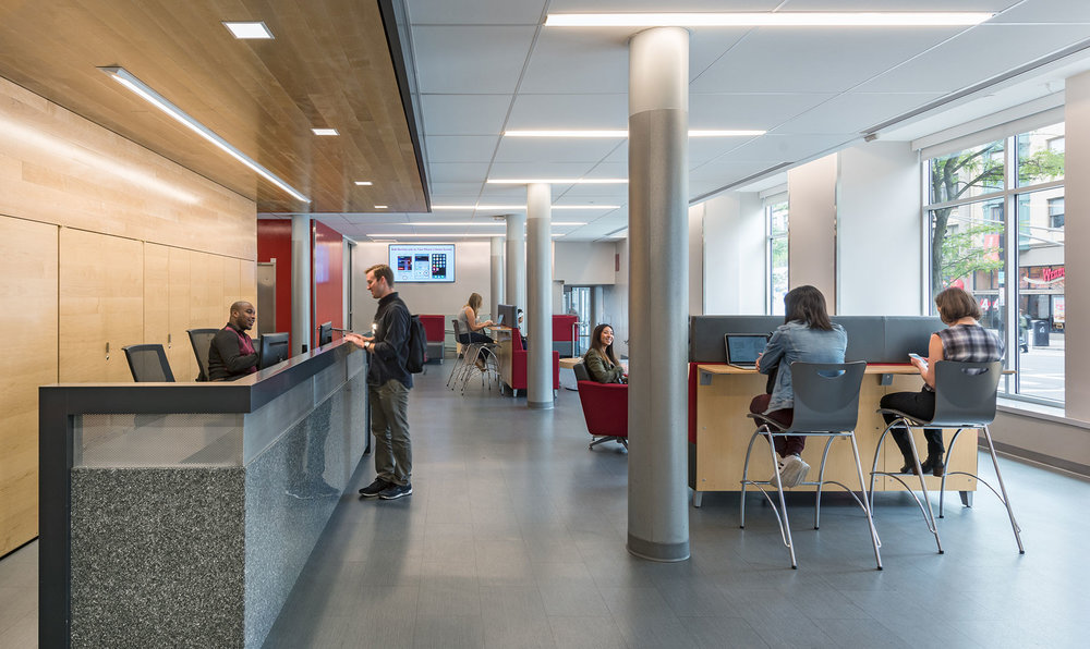 Student Lounge and Elevator Lobby