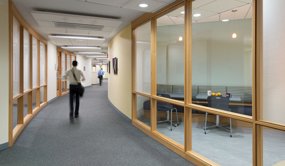 View into Staff Lounge