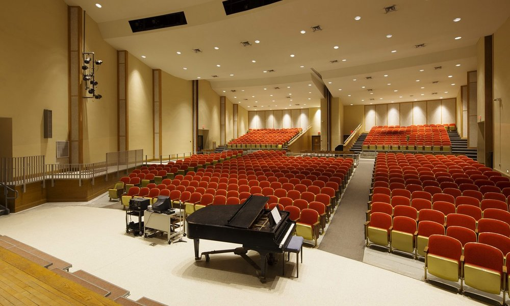 Accessibility improvements were integrated into the auditorium
