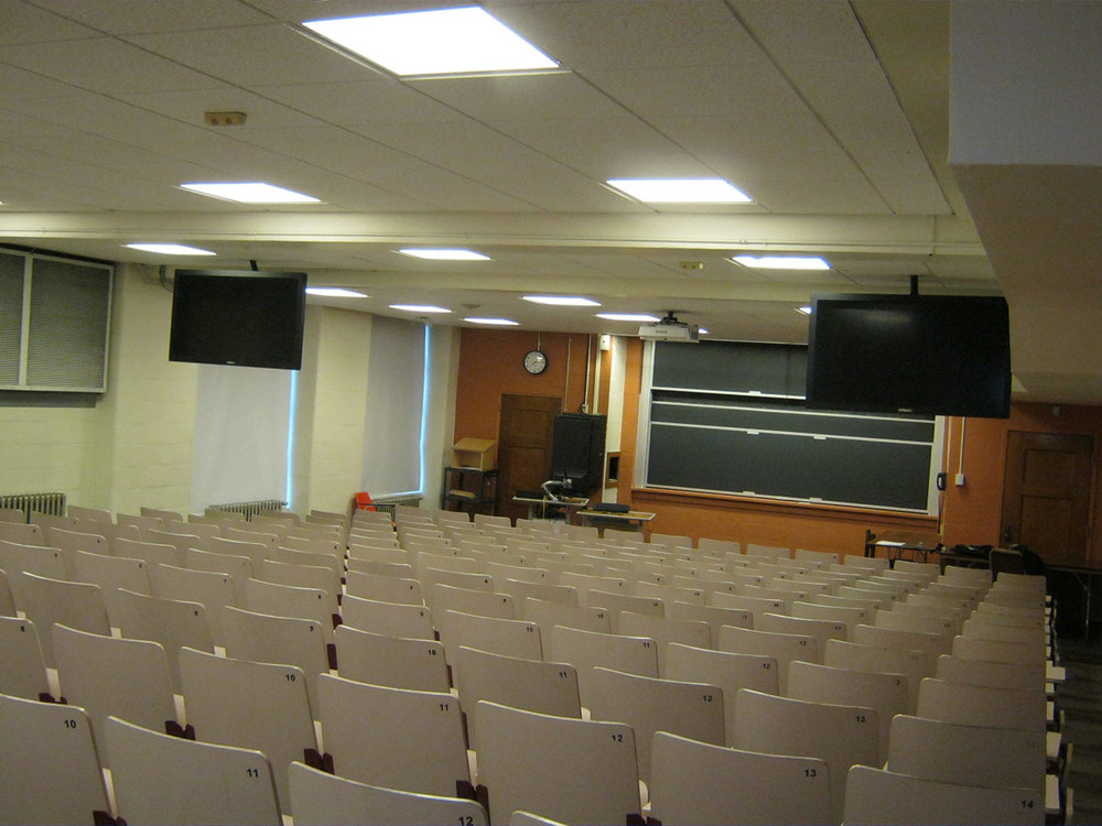 Mugar Hall Classroom prior to our renovation