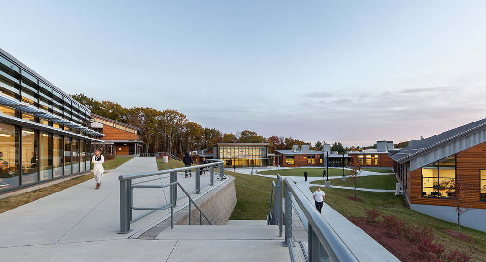 New Hampshire Job Corps Center is organized around a common green