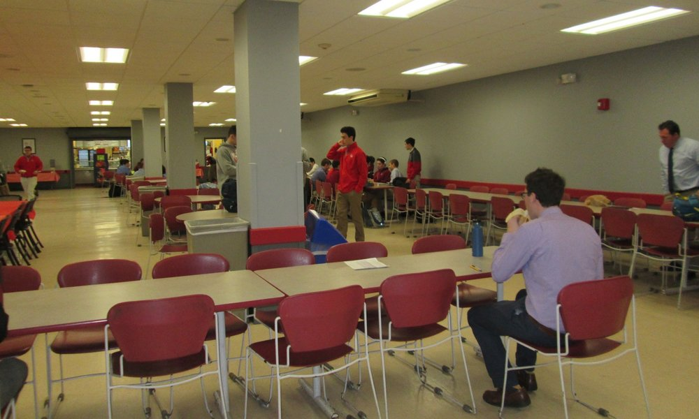 Cafeteria prior to our renovation