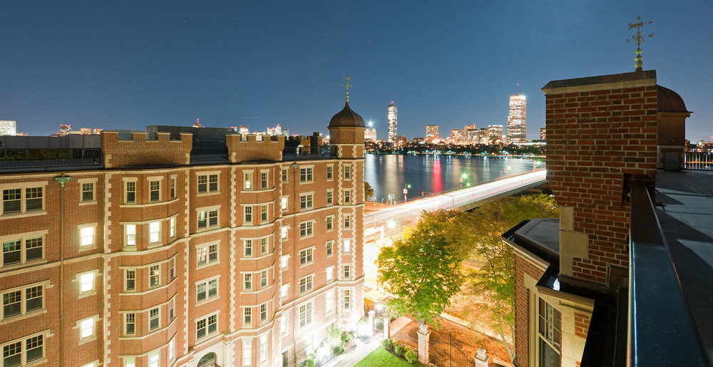 View to the Charles River and Boston