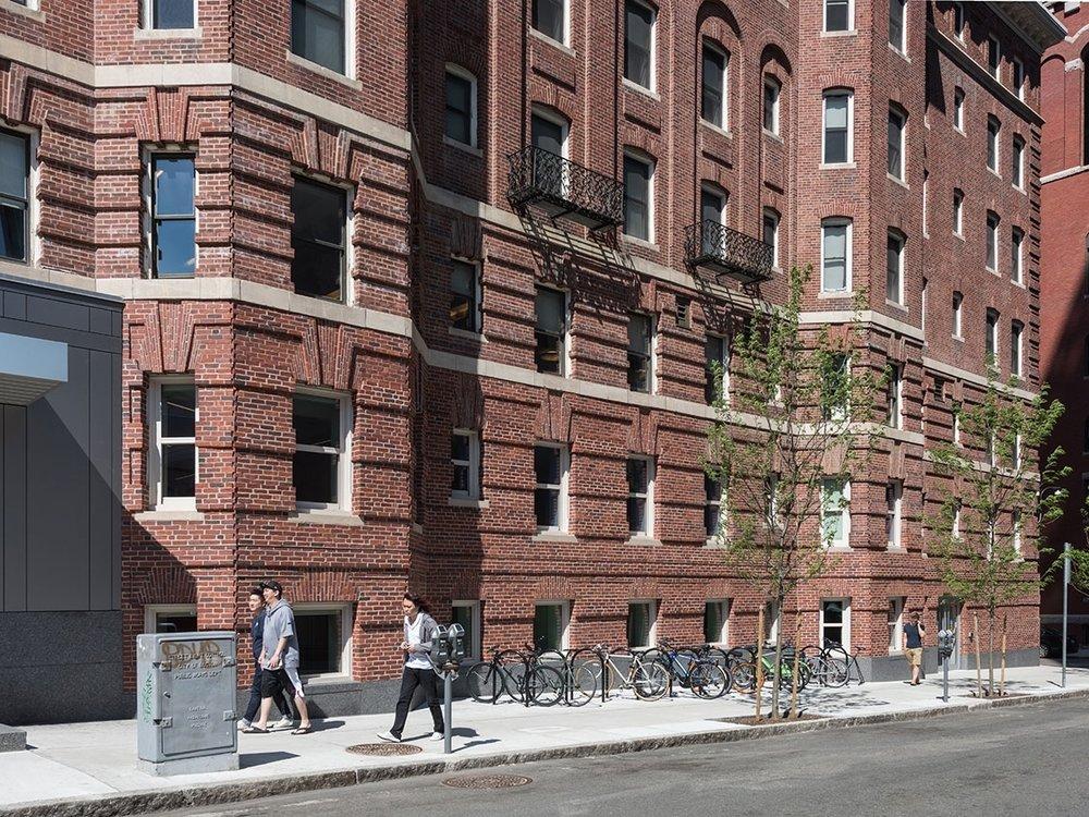 Restored Belvidere Street facade