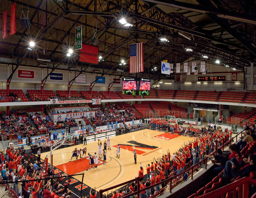 Matthews Arena supporting basketball