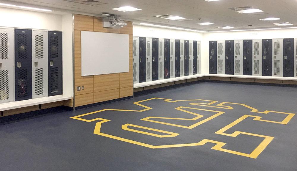 Football Team Locker Room
