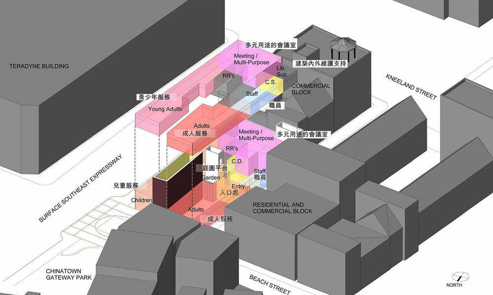 2008 Chinatown Branch Library Planning Study - Site Analysis Diagram