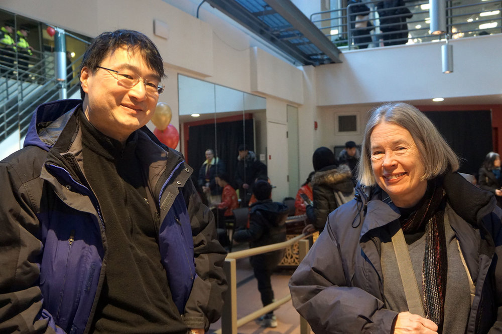 MDS architects Danyul Cho, AIA (left) and Donna Harris, RA, LEED AP (right) with Principal Myron Miller, AIA were key team members to the 2017 BPL Chinatown Library Services Planning Study