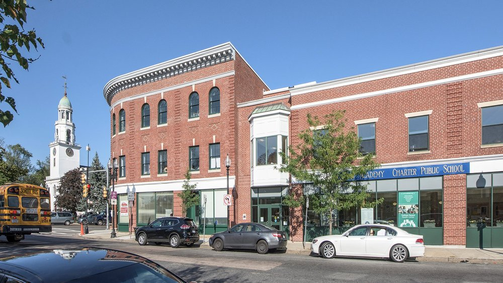 The historic Lithgow Building is located in the heart of Codman Square in Dorchester, MA