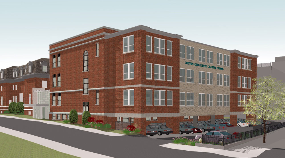 Rendering of the Mayhew Street School Expansion