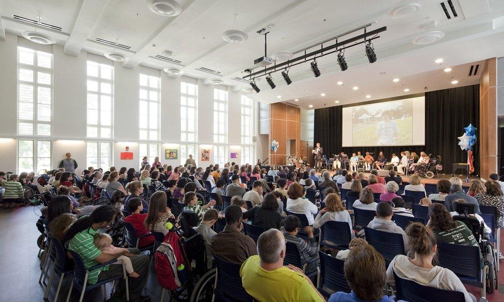 Multipurpose Auditorium during a graduation ceremony