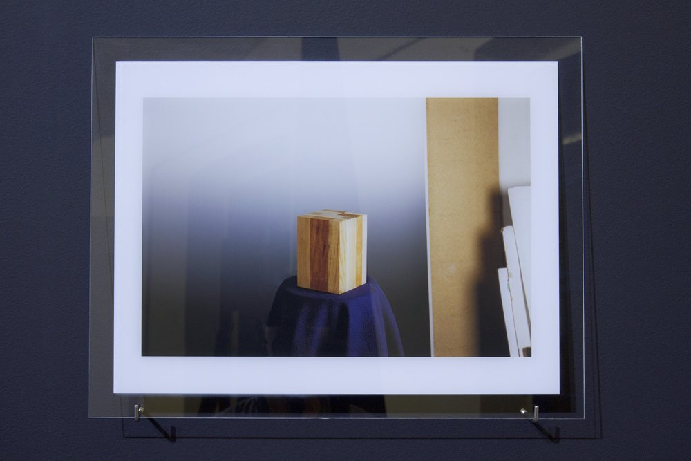 The Ultimate Norm 2015, part of the installation, UV print on glass, 30 x 40 cm