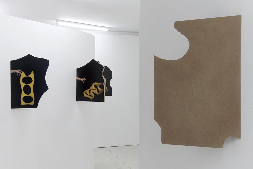 Hands Clasped 2015, installation view, digital c-print on wooden box, FAIT Gallery, Brno