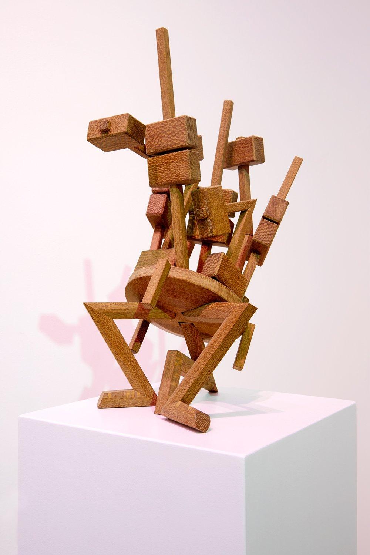Rising Hammer 2017, tropical wood 46 x 30 x 23 cm