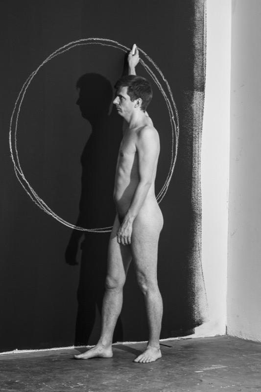 Puklus Péter: Kísérlet a tökéletes kör megrazolására / The Attent of Drawing a Perfect Circle 2018. 93 x 63 cm
