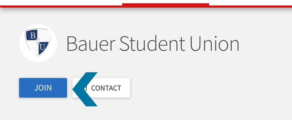 "Step D   Click on the ""Join"" option underneath the name and logo. Once you click join, it will send your membership request to us. We will add you to the organization when we confirm payment, and you will get an email from Get Involved welcoming you to Bauer Student Union!"