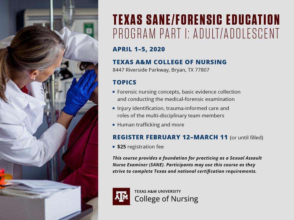 Texas Sane Forensic Education Program Part I Adult Adolescent Iafn Texas
