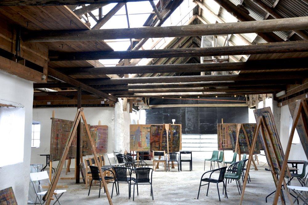 Vedic Art studio at Gamlegärde Farm