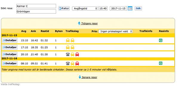 Förklaring röd buss symbol: - Den gula buss symbolen visar bussar som går ordinarie från Kalmar C till Mörbylånga. Den röda buss symbolen visar buss med närtrafiken som du måste förbeställa via Närtrafiken. Väl slutdestination till ditt boende kurslokal eller de lokala samhällena Grönhögen , Ottenby eller Näsby..Ring närtrafiken 010-2121000 (menyval 3)OBS! Vedic Art friskskriver sig från allt ansvar gällande din resa.