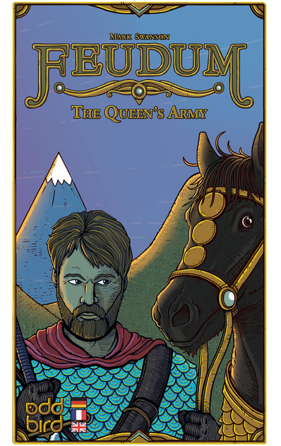 Brian and JR developed The Queen's Army, the solo variant for Feudum that allows for various levels of difficulty in this heavy Eurogame.