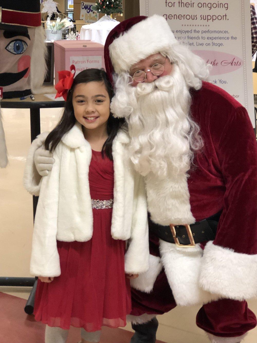 "Santa visits TBSC ""The Nutcracker"""