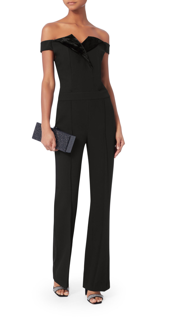 Dauphne Velvet Trim Jumpsuit, L'Agence, $189 (originally $645) - SOMEONE PLEASE BUY THIS JUMPSUIT.  I'm jumping out of my seat over here (or should I say jumping out of my suit??...haha okay bad joke...let's continue...) because the markdown on this incredible piece is just too good to pass up.  Intermix only has it available in a few sizes, so if yours is still in stock - go get it girl!! This jumpsuit is so chic it's an investment that's well worth it.  And if you buy it, please tell me you did so I can virtually high-five you.  Photo Credit: Intermix