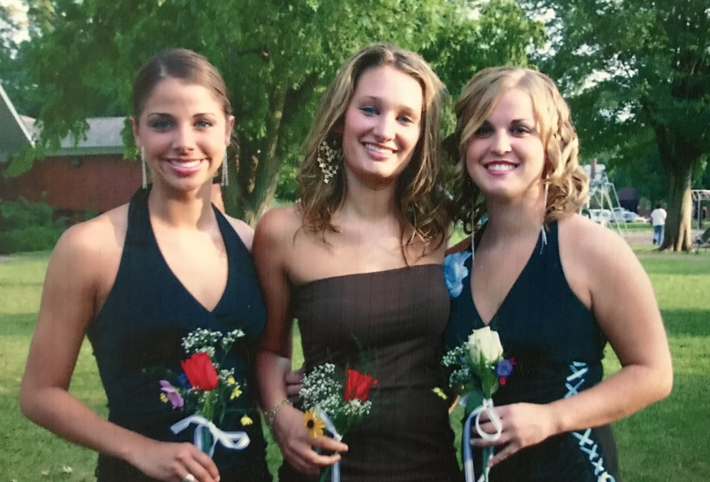 Two of my BFFs (and still to this day!) in high school.