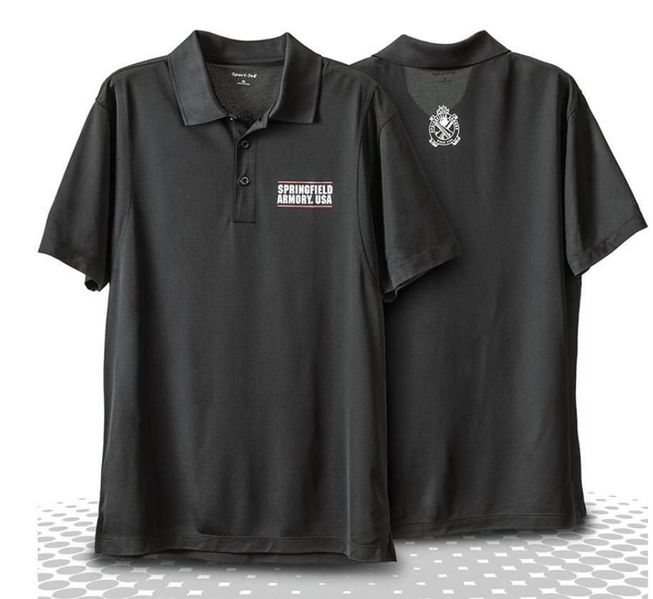 Springfield Armory USA Cross Cannon Mesh Polo, $36.50  Photo Credit:  Springfield Armory