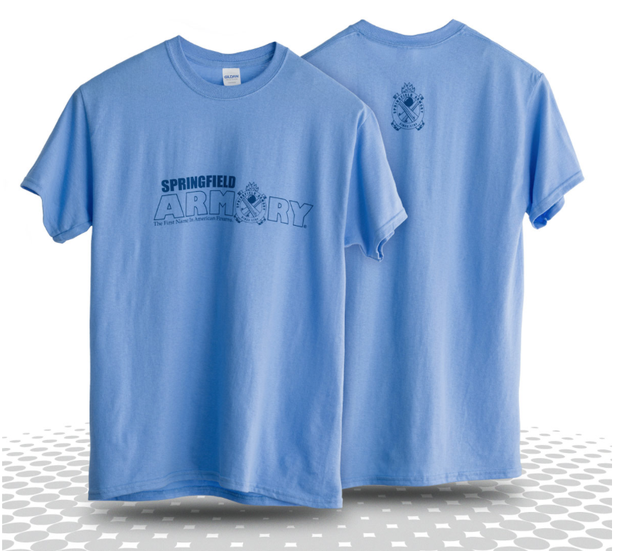 Springfield Armory Girl Blue Tee, $12.50  Photo Credit:  Springfield Armory